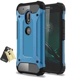 Partij 100x Motorola Moto G4 Case - Blauw - Rugged