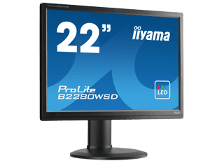 B-KEUZE - IIYAMA Prolite B2280WSD-B1 - 22 inch - 1680x1050 - 16:10 - DVI-D - VGA - Zwart