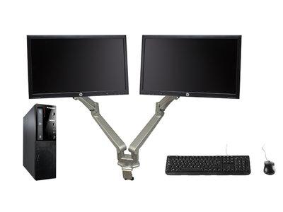 Thuiswerk computer set - Intel G3240 - 4GB - 120GB SSD - DvDRW - W10 + 2x 23 inch Beeldschermen