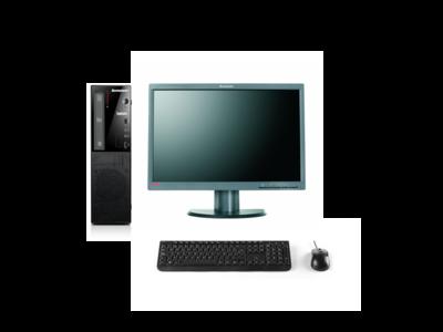 Lenovo Thuiswerk computer set - Intel G3240 - 4GB - 500GB HDD - DvDRW - W10 + 1x 22 inch Beeldscherm